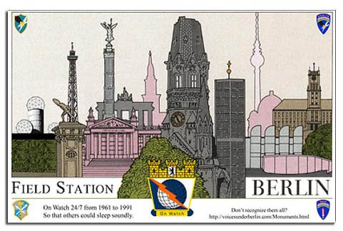 Field Station Berlin - Berlin Monuments Skyline Poster