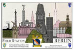 Field Station Berlin Skyline Monuments poster