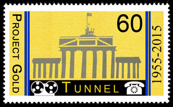 60th Anniversary of the start of collection in the Berlin Tunnel Cinderella Stamp No1