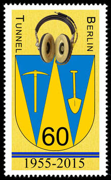 60th Anniversary of the start of collection in the Berlin Tunnel Cinderella Stamp No2