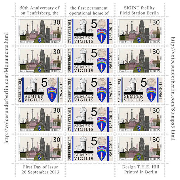 50th Anniversary of the First Permanent buildings on Tberg Cinderella Stamps