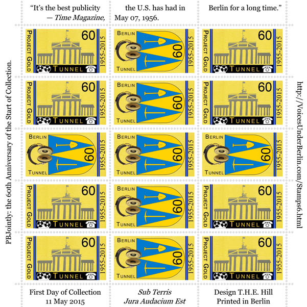 Berlin Tunnel Sixtieth Anniversary Commemorative Stamps Sheet